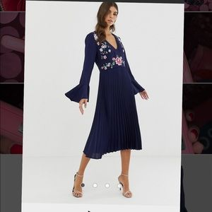 ASOS Dresses - New Navy Blue dress! With embellishments (size 10)
